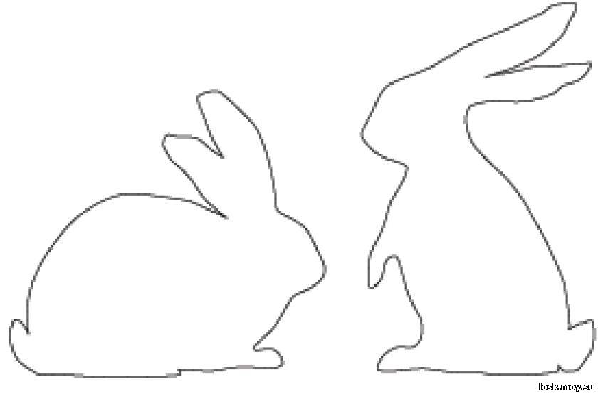 template drawings pinterest osterhase, kaninchen und ostern