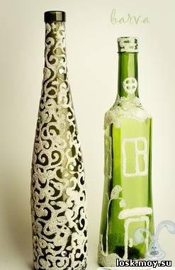 Новогодний декор бутылка